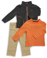 Nautica Boys 2-7 Fleece Jacket, Tee, and Chinos Set