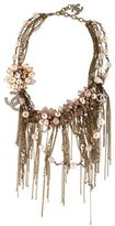 Chanel Faux Pearl & Rose Quartz Multistrand Necklace