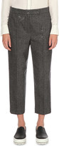 Brunello Cucinelli Sequinned chevron wool-blend trousers