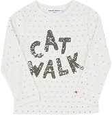 "Sonia Rykiel Cat Walk""-Pattern T-Shirt-WHITE"