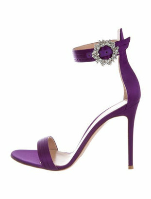 Gianvito Rossi Crystal Embellishments Sandals w/ Tags Purple