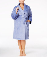 Charter Club Plus Size Super Soft Shawl Collar Short Robe, Only at Macy's