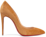 Christian Louboutin Pigalle Follies 100 Suede Pumps - Yellow