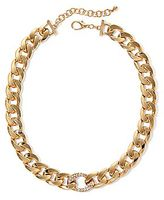 JCPenney Decree® Gold-Tone Chunky Chain Necklace with Crystals