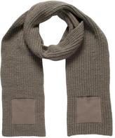 Balenciaga Grey Knit Scarf