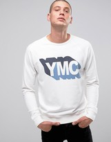 YMC Sweat with Logo In Gray