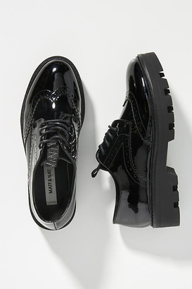 Matt & Nat PVC Platform Oxford Loafers By in Black Size 37