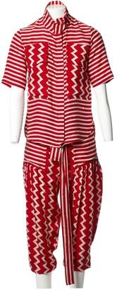 Stella McCartney Red Silk Jumpsuits