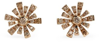 H.Stern Noble Gold and Cognac Diamond Flow Earrings