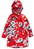 Joules Packaway Flower Print Rain Jacket