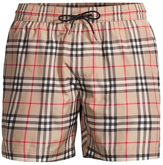 Burberry Grafton Mid-Length Vintage Plaid Swim Shorts