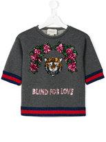 Gucci Kids - Blind For Love sweatshirt - kids - Cotton/Spandex/Elastane/Viscose/Metallic Fibre - 10 yrs