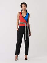 Diane von Furstenberg Kandy Stretch-Knit Wrap Top