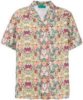 Paura tropical-print bowling shirt