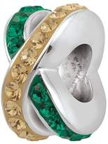 Persona Sterling Silver Crystal Spacer Green and Gold