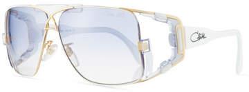 Cazal Men's Acetate/Metal Wrap Sunglasses