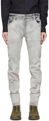 Balmain Grey Slim Six-Pocket Jeans