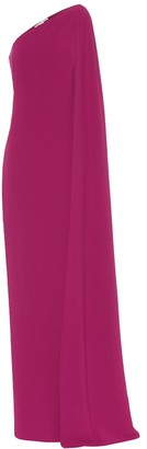 Stella McCartney Crepe one-shoulder gown