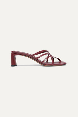 Neous Mannia Leather Sandals - Burgundy