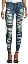 Rag & Bone Dre Distressed & Repaired Mid-Rise Skinny Jeans, Ada Brigade
