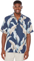 Cubavera Big & Tall Short Sleeve Leaf Print Shirt