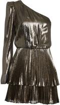 Derek Lam 10 Crosby Yolie One-Shoulder Lame Dress
