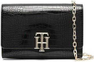 Tommy Hilfiger Lock crocodile clutch bag
