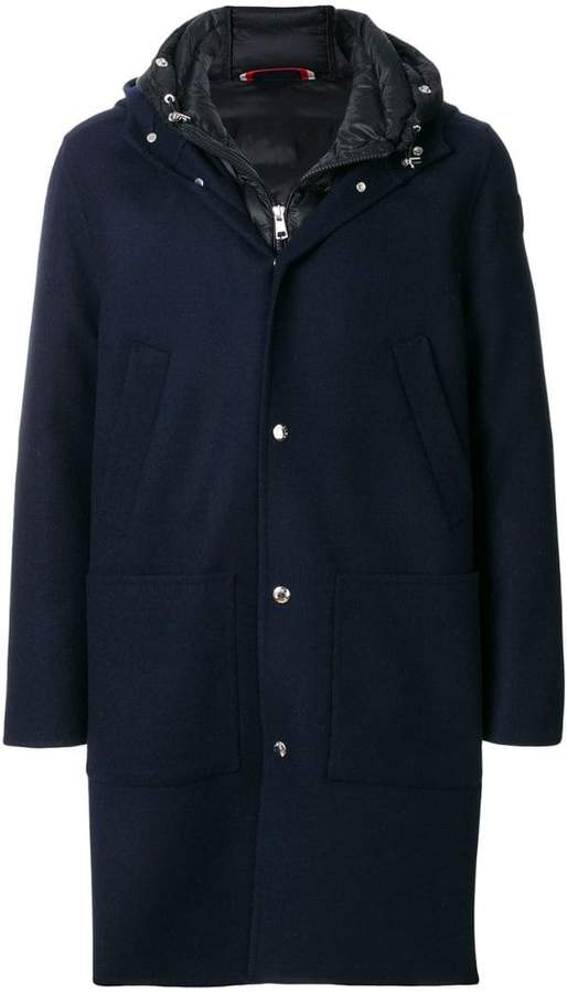 Moncler hooded button coat