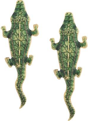 Natia X Lako Large Crocodile earrings
