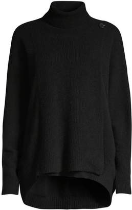 Raffi High-Low Cashmere Turtleneck