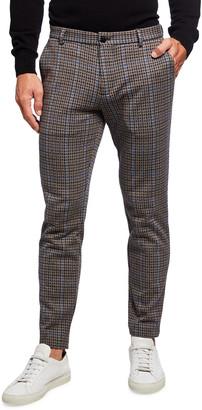 Scotch & Soda Men's Mott Check Slim-Leg Knit Chino Pants