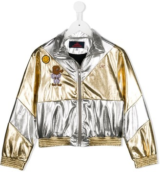 The Animals Observatory Gold And Silver Bomber Jacket