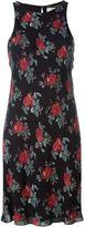 Saint Laurent rose print shift dress