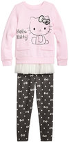 Hello Kitty 2-Pc. Ruffle Trim Tunic and Leggings Set, Toddler Girls (2T-5T)