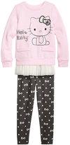 Hello Kitty 2-Pc. Ruffle Trim Tunic & Leggings Set, Toddler Girls (2T-5T)