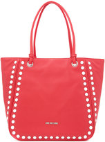 Love Moschino silver studded tote bag