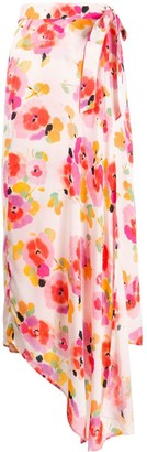 Essentiel Antwerp Vijay floral wrap skirt