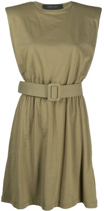 FEDERICA TOSI Belted Sleeveless Mini Dress