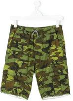 Diesel teen camouflage cargo shorts