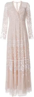 Needle & Thread two tone embellished long dress