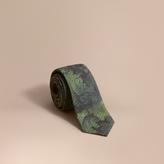 Burberry Modern Cut Tapestry Print Tie