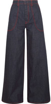 Marni High-rise Wide-leg Jeans - Blue