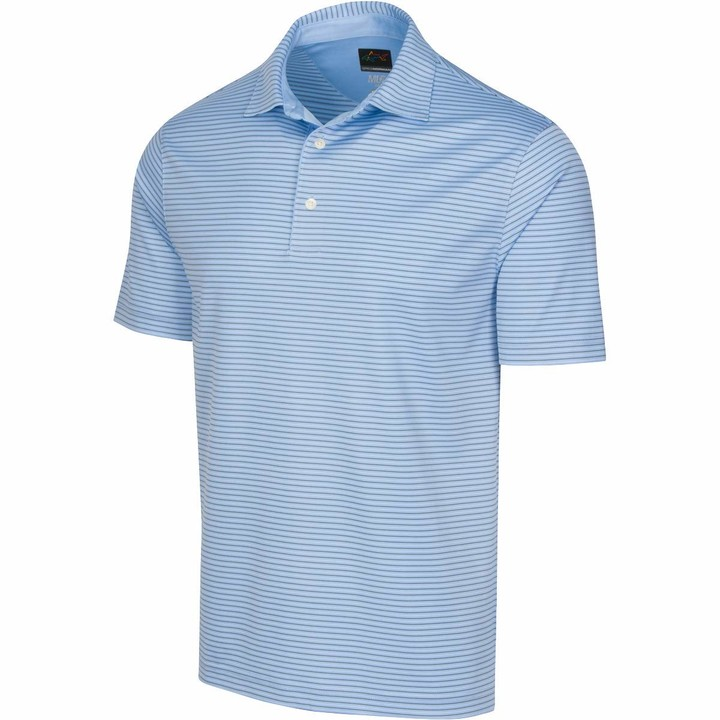 Thumbnail for your product : Greg Norman Men's Protek Ml75 Microlux 2below Stripe Polo Short Sleeve