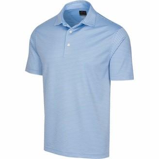 Greg Norman Men's Protek Ml75 Microlux 2below Stripe Polo Short Sleeve