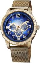 August Steiner Men's AS8115YG Multifunction Dial Gold-Tone Stainless Steel Mesh Bracelet Watch
