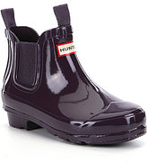 Hunter Kids' Original Gloss Chelsea Waterproof Rain Boots