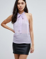 Glamorous Tie Neck Sleeveless Top