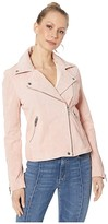 Blank NYC Real Suede Moto Jacket in Pink Pearl (Pink Pearl) Women's Clothing