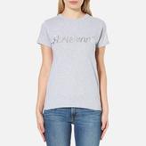 MAISON KITSUNÉ Women's Parisienne TShirt - Light Grey Melange