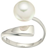 Majorica Round Pearl Sterling Silver Wave Ring Ring